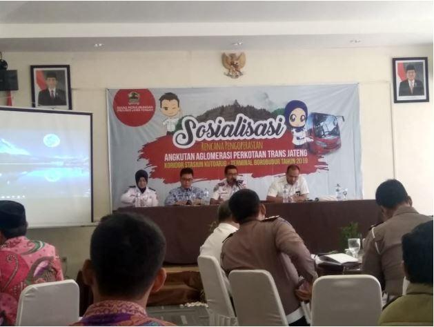 Sosialisasi Pengoperasian Angkutan Trans  Jateng  Jurusan Stasiun Kutoarjo – Terminal Borobudur