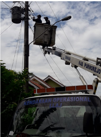 Perbaikan PJU Di SD Cangkrep Purworejo
