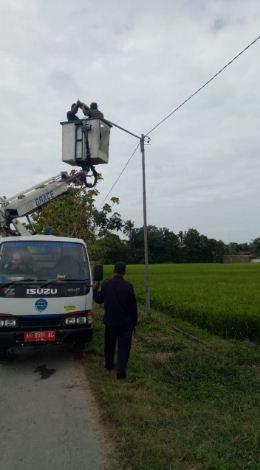 DISHUB Lakukan  Perbaikan PJU di Jalan Wasiat